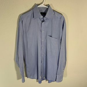 Canali Italy Blue Dress Shirt 15.5 39